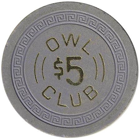 Owl Club $5 (blue) chip