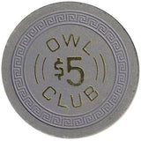 Owl Club $5 (blue) chip - Spinettis Gaming - 1