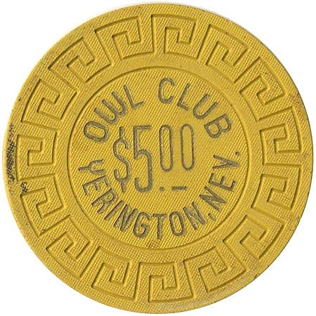 Owl Club $5 (yellow) chip