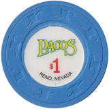 Pacos $1 (blue) chip - Spinettis Gaming - 1
