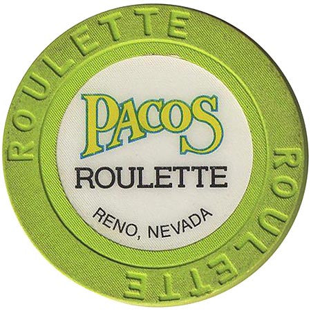 Pacos (roulette) (green) chip - Spinettis Gaming - 1