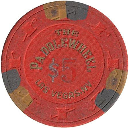 Paddle Wheel Casino Las Vegas NV $5 Chip 1983