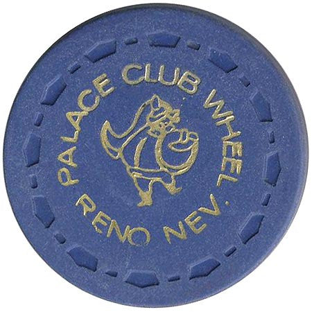 Palace Club Casino Reno NV Blue Roulette Chip 1972