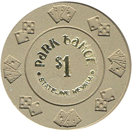 Park Tahoe $1 (gray) chip - Spinettis Gaming - 1