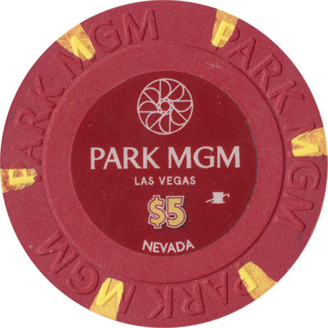 Park MGM Casino Las Vegas NV $5 Chip 2018