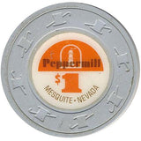 Peppermill $1 (gray) chip - Spinettis Gaming - 1