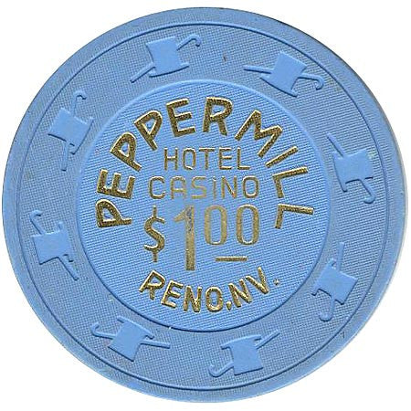 Peppermill $1 (blue) Reno chip