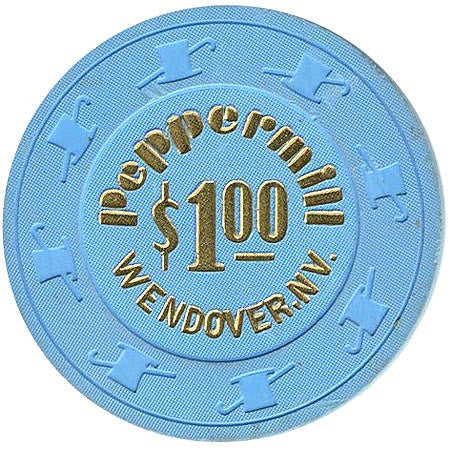 Peppermill $1 (blue) Wendover chip