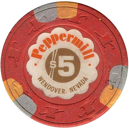 Peppermill $5 (red) chip - Spinettis Gaming - 1