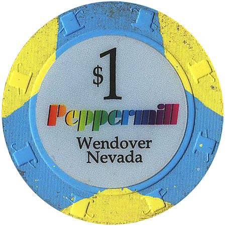 Peppermill, Wendover NV $1 Casino Chip - Spinettis Gaming - 1