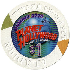 Planet Hollywood, Las Vegas NV $1 (Aladdin Mold) Casino Chip - Spinettis Gaming - 1