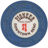 Pioneer Casino $1 (blue) chip - Spinettis Gaming - 1