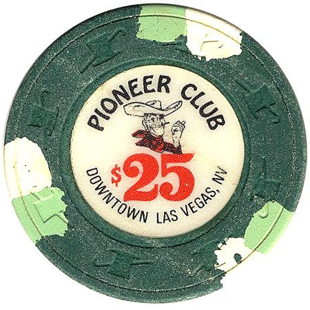 Pioneer Club $25 (green) chip - Spinettis Gaming - 1