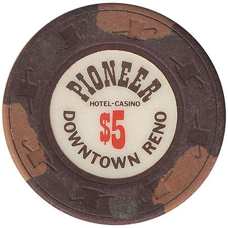 Pioneer Casino $5 (brown) chip - Spinettis Gaming - 1