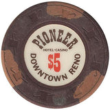 Pioneer Casino $5 (brown) chip - Spinettis Gaming - 2