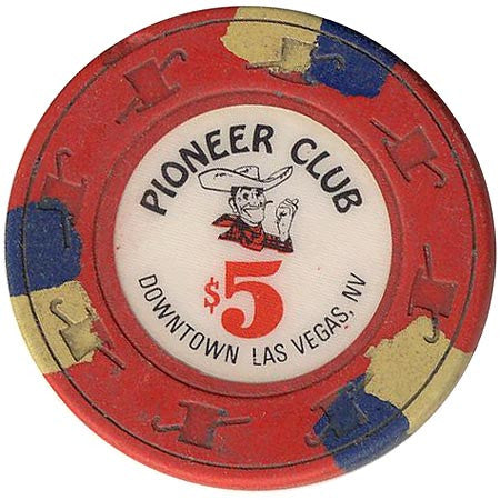 Pioneer Club Casino Las Vegas $5 (red) chip - Spinettis Gaming