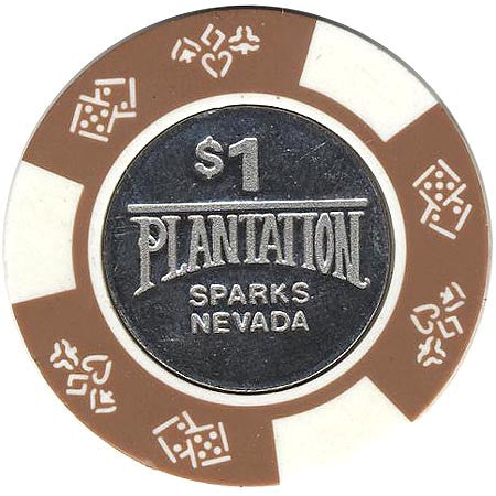 Plantation $1 (brown/white) chip