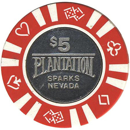 Plantation $5 (red) chip