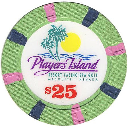 Player's Island $25 (green) chip - Spinettis Gaming - 1