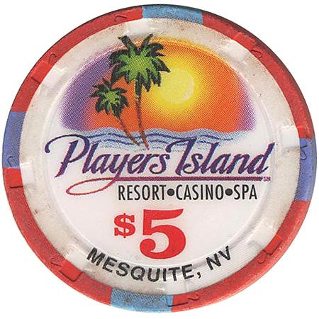 Player's Island $5 chip