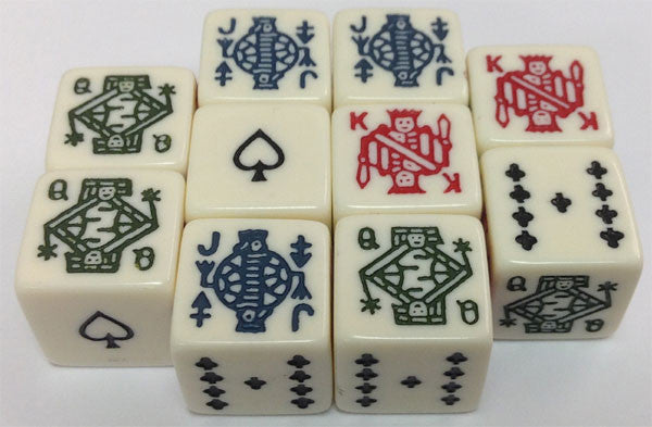 10 Six Sided Poker Dice