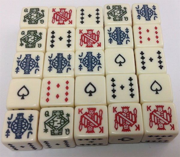 25 Six Sided Poker Dice