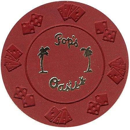 Pop's Oasis (red) (palms) chip - Spinettis Gaming - 2