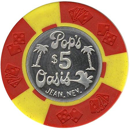 Pop's Oasis $5 (red/yellow) chip