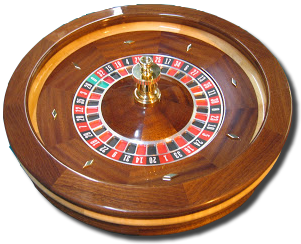 Professional Solid Mahogany Roulette Wheel