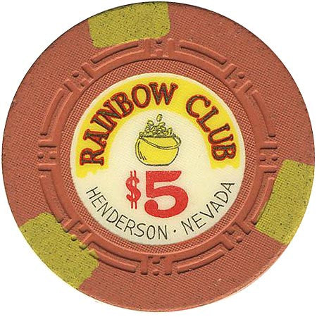 Rainbow Club $5 (orange) chip - Spinettis Gaming - 1