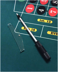 "High Quality Casino Roulette Adjustable Telescopic Rake With 8"" Acrylic Scoop - Spinettis Gaming - 1"