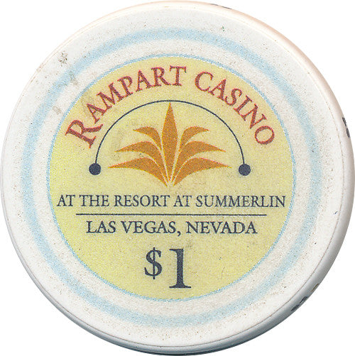 Rampart Casino, Las Vegas NV $1 Casino Chip - Spinettis Gaming - 2
