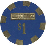Ranch House $1 (blue) chip - Spinettis Gaming - 2