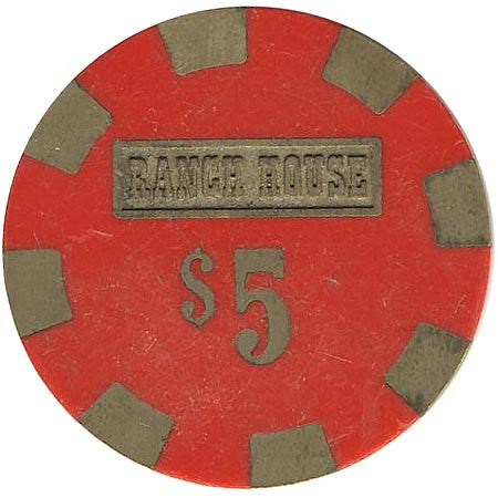 Ranch House Casino Wells NV $5 Chip 1980
