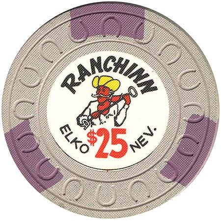 Ranchinn $25 (gray) chip - Spinettis Gaming - 1