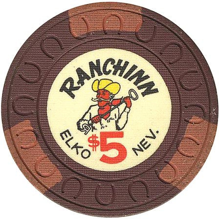 Ranchinn Casino Elko NV $5 Chip 1969