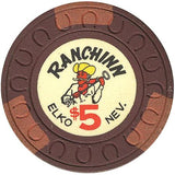 Ranchinn $5 (brown) chip - Spinettis Gaming - 2