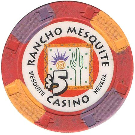 Rancho Mesquite Casino $5 (red) chip
