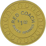 Red Coach $1 (yellow) chip - Spinettis Gaming - 1