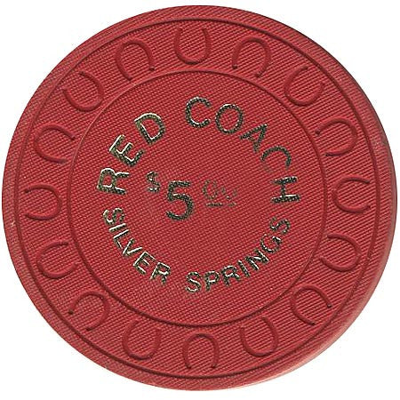 Red Coach $5 (red) chip - Spinettis Gaming - 1