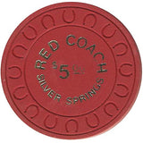 Red Coach $5 (red) chip - Spinettis Gaming - 2