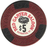 Red Garter Saloon $5 (burgundy) chip - Spinettis Gaming - 2