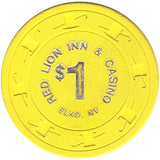 Red Lion Inn & Casino $1 (yellow) chip - Spinettis Gaming - 1