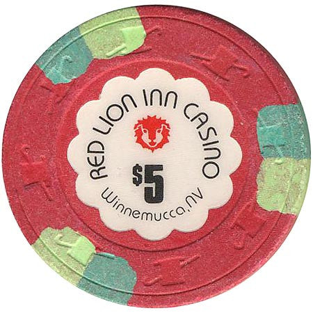 Red Lion Inn Casino $5 chip - Spinettis Gaming - 2
