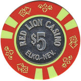 Red Lion Casino $5 chip - Spinettis Gaming - 1