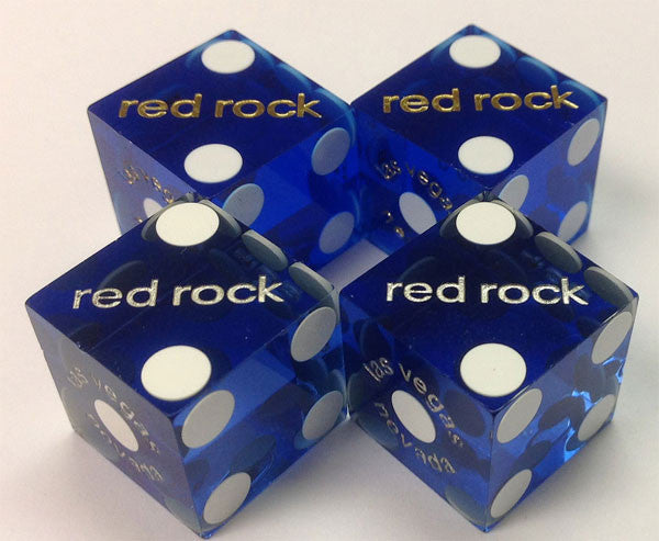 Red Rock Casino Pair of Used Blue Dice