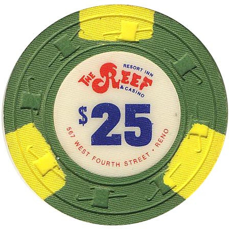 The Reef $25 (green) chip - Spinettis Gaming - 1