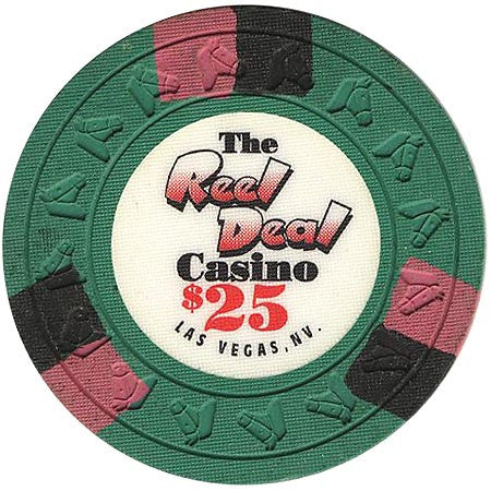 The Reel Deal  Casino $25 (green) chip