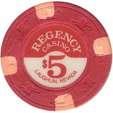 Regency Casino $5 (red) chip - Spinettis Gaming - 1