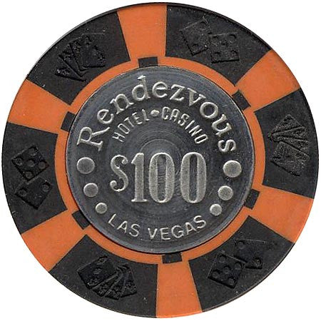 Rendezvous Casino $100 (black) chip